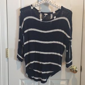 Navy blue stripes Shirt
